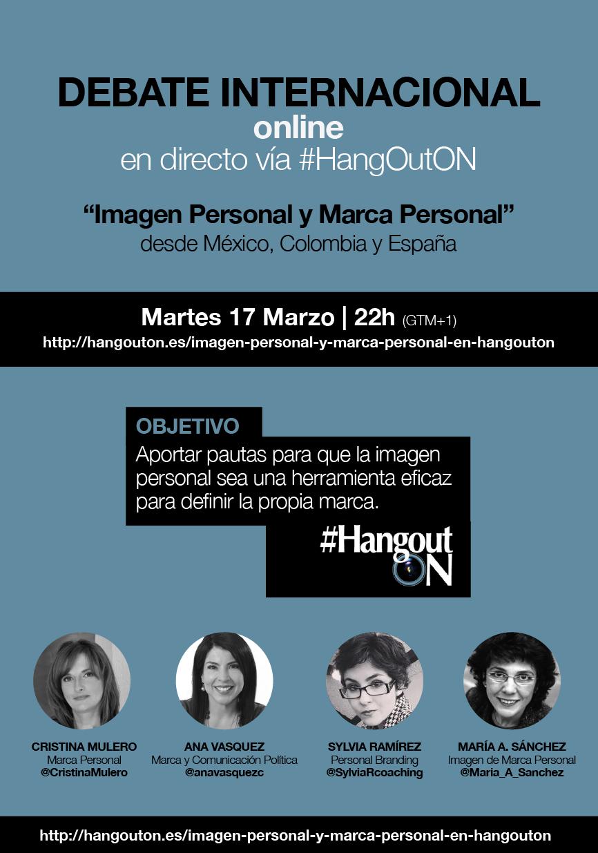 Imgen Personal Marca Personal #HangOutOn María A. Sánchez Cristina Mulero Ana Vasquez Sylvia Ramírez Personal Branding Libro No Imagen