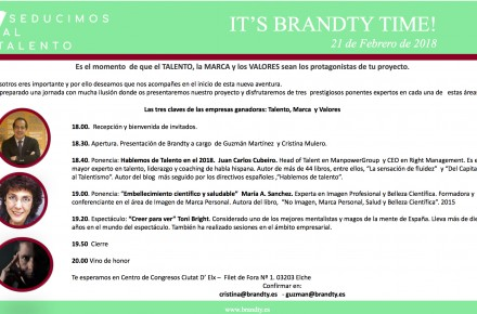 Invitación Presentación BRANDTY